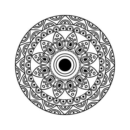 ornamental round floral vintage element mandala ethnic vector illustration