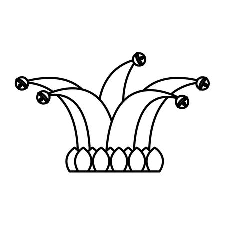 nar hoed met klokken kleding grappig vector afbeelding overzichtsafbeelding