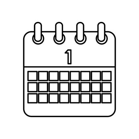 celebration calendar first planning date vector illustration outline image Ilustração