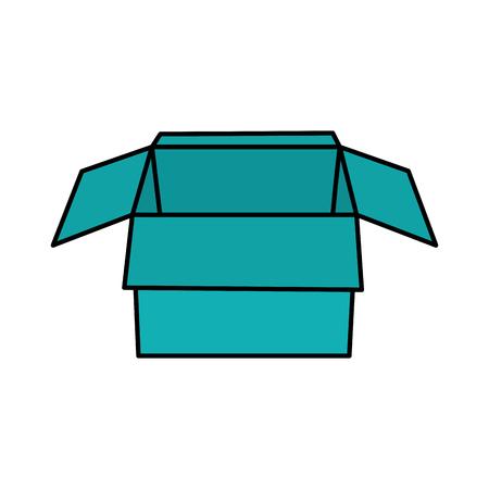open cardboard box packaging storage vector illustration 版權商用圖片 - 95182476
