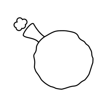 whoopee cuscino scherzo umorismo gomma illustrazione vettoriale contorno immagine Vettoriali