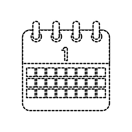celebration calendar first planning date vector illustration dotted line design Stock Vector - 95184494