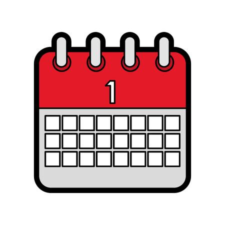 celebration calendar first planning date vector illustration Ilustração