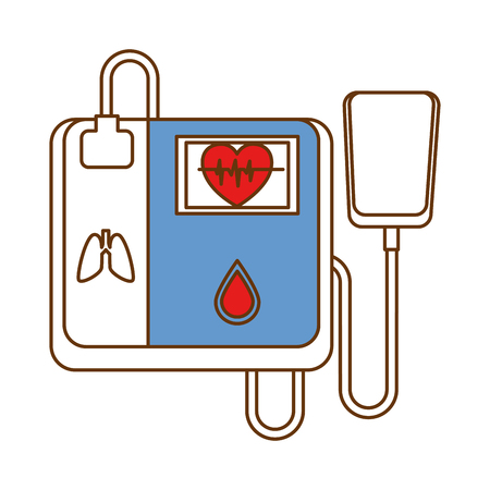 cardiology machine isolated icon vector illustration design