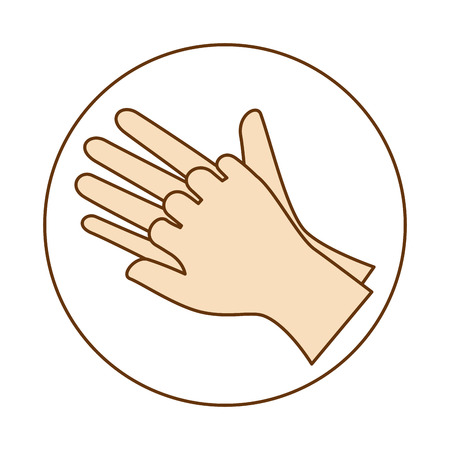 Surgical gloves isolated icon vector illustration design Illusztráció