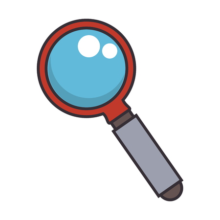 Magnifying glass icon Stok Fotoğraf - 95204510