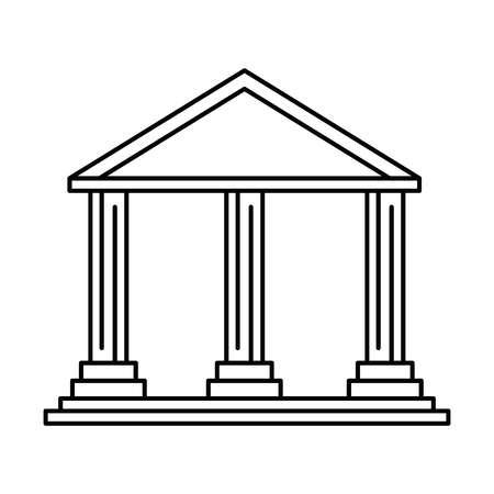 bank building isolated icon vector illustration design Ilustração