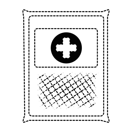 medical gauze bag icon vector illustration design Archivio Fotografico - 95204928