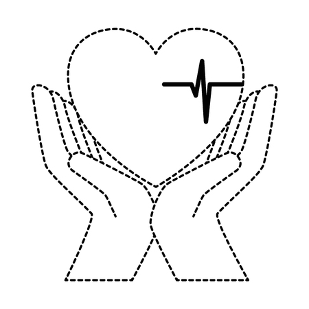 Hands with heart design