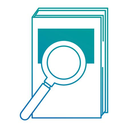 handboek met vergrootglas vector illustratie ontwerp