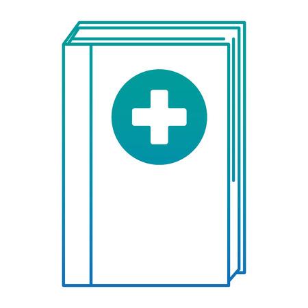 medicine text book icon vector illustration design