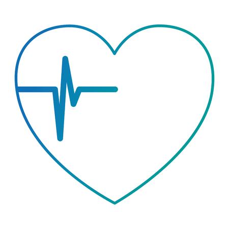 Coeur cardio isolé icône du design illustration vectorielle Banque d'images - 95206048