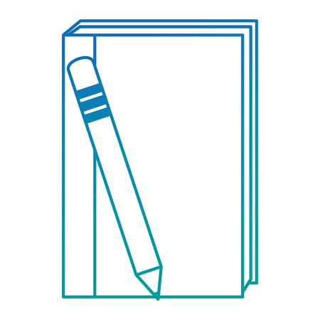 text book with pencil vector illustration design