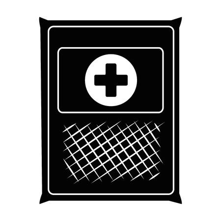 Medical gauze bag icon vector illustration design Archivio Fotografico - 95208649