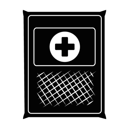 Medical gauze bag icon vector illustration design