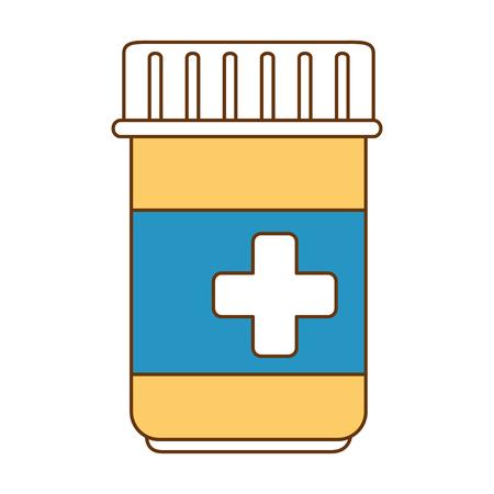薬瓶隔離アイコンベクトルイラストデザイン