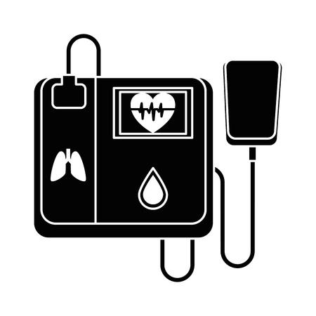 心臓機械隔離されたアイコンベクトルのイラスト設計  イラスト・ベクター素材