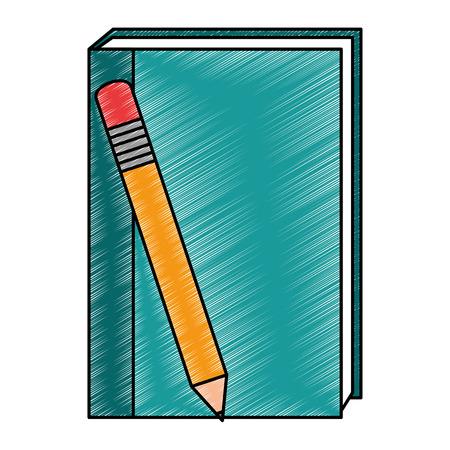 鉛筆ベクトルイラストデザインのテキストブック