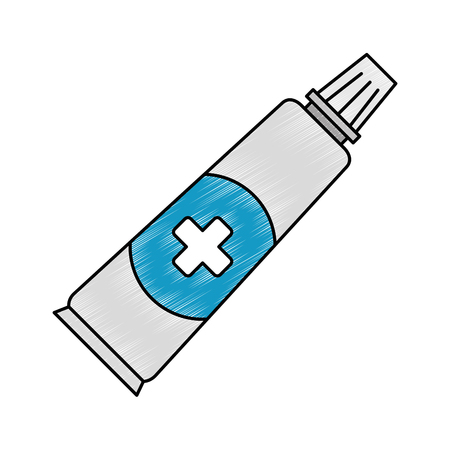 medical cream isolated icon vector illustration design 向量圖像