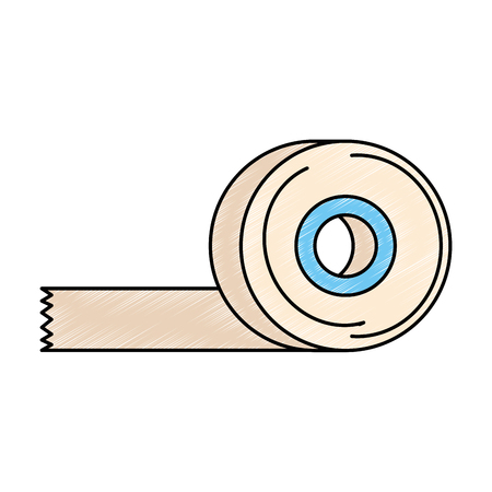 sticking plaster roll icon vector illustration design Ilustração