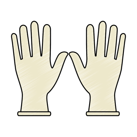 Surgical gloves isolated icon vector illustration design Illustration