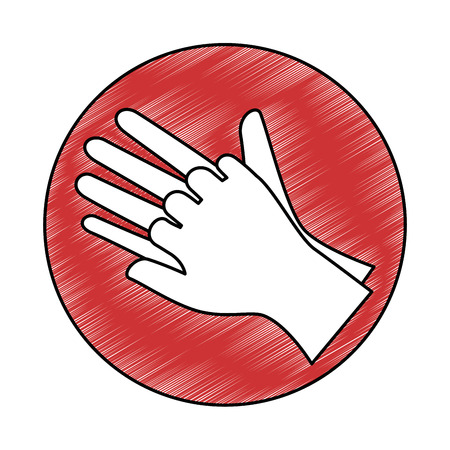 Surgical gloves isolated icon vector illustration design Vectores