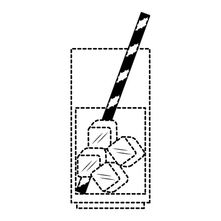 glass with ice cubes isolated icon vector illustration design Illustration