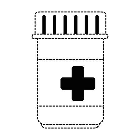 medicine bottle isolated icon vector illustration design  イラスト・ベクター素材
