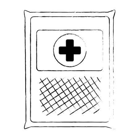 medical gauze bag icon vector illustration design Archivio Fotografico - 95223540