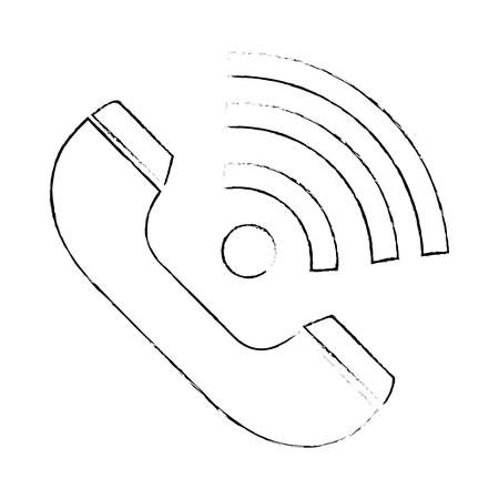 telephone service isolated icon vector illustration design  イラスト・ベクター素材