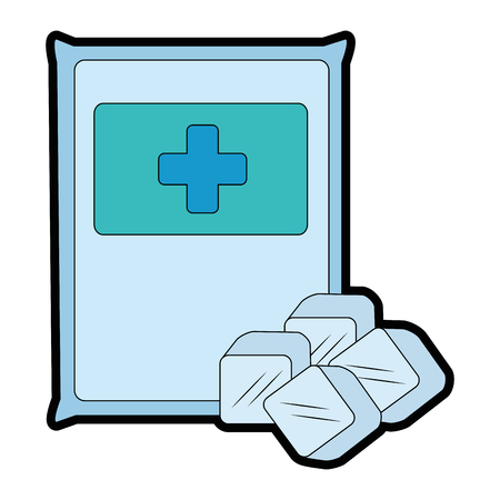 bag with ice cubes isolated icon vector illustration design