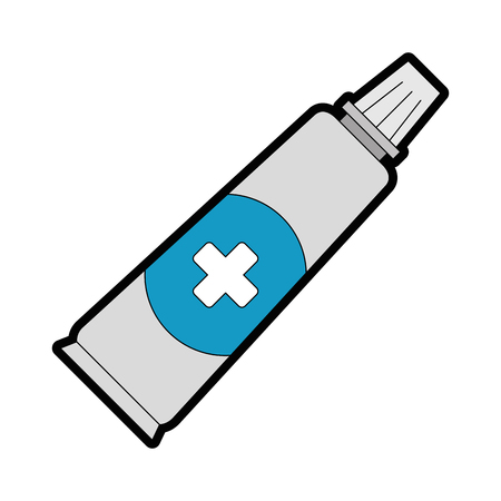medical cream isolated icon vector illustration design Illustration