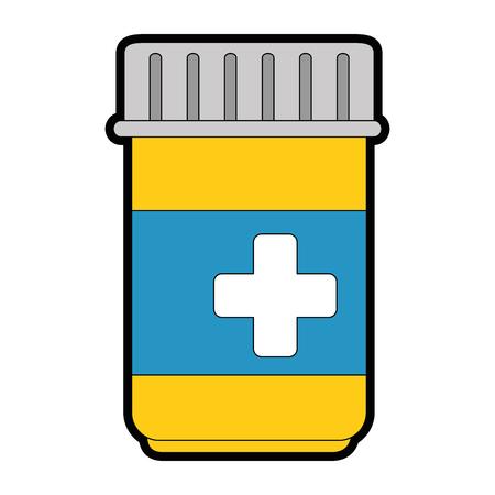medicine bottle isolated icon vector illustration design Ilustração