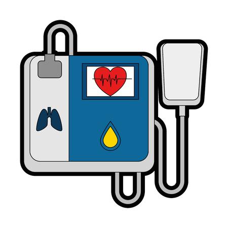 cardiology machine isolated icon vector illustration design