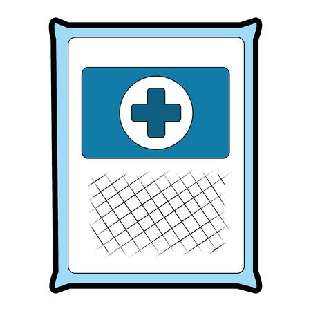 medical gauze bag icon vector illustration design Archivio Fotografico - 95306528
