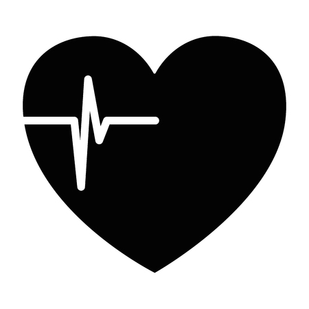heart cardio isolated icon vector illustration design