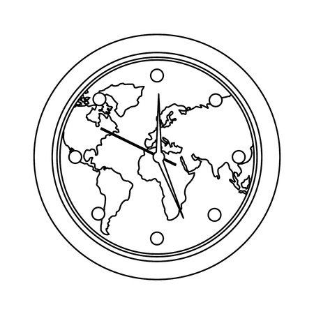 Flecha globo y dinero diseo ilustracin sobre un fondo blanco 95217026 round clock on world map ecology concept vector illustration outline design gumiabroncs Images