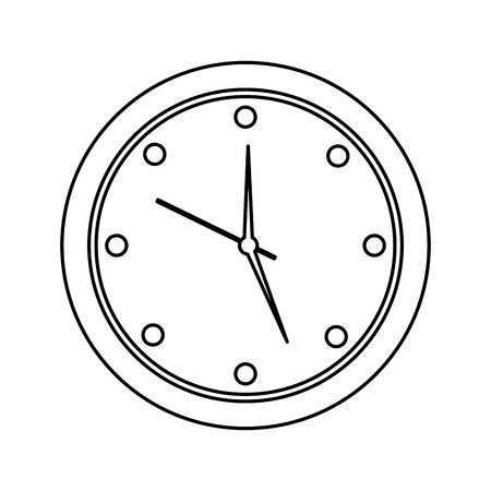 Round clock time hour device count icon vector illustration outline design Illustration