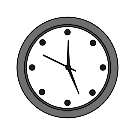 Round clock time hour device count icon vector illustration