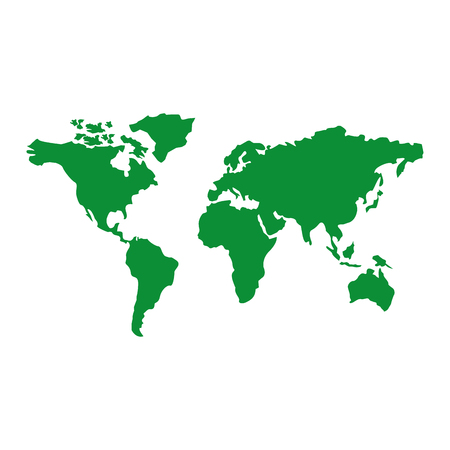Map of the world with countries continent vector illustration green image 向量圖像