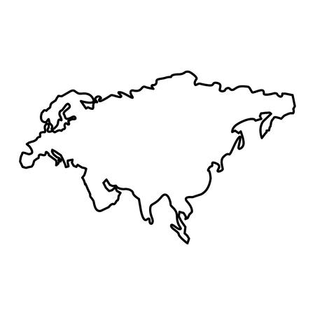 Carte du continent amérique du soleil vecteur silhouette contour conception de contour Banque d'images - 95217035