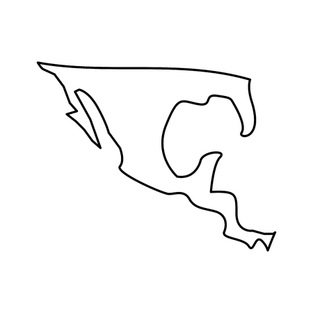 Silhouette map of mexico country vector illustration outline design 일러스트