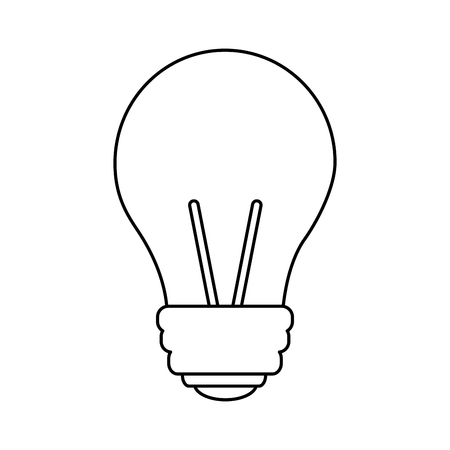 Light bulb eletric illumination lamp icon vector illustration outline design