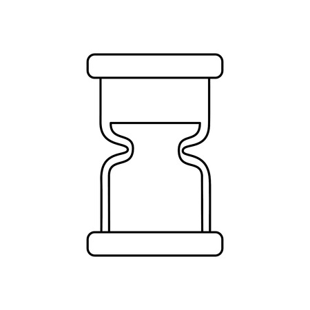 clock hourglass sand time measure device vector illustration outline design