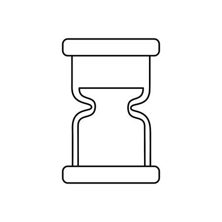 clock hourglass sand time measure device vector illustration outline design