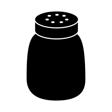 Salt shaker seasoning for cooking condiment vector illustration black design