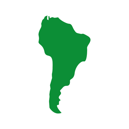 silhouette south america map continent geography vector illustration green image Фото со стока - 95220590