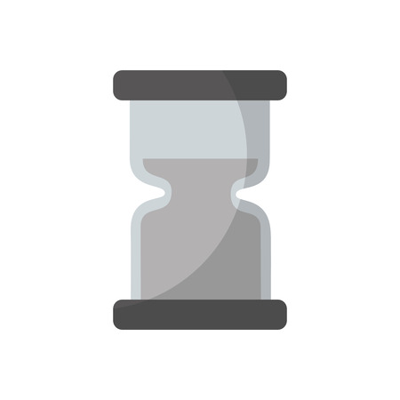 Clock hourglass sand time measure device vector illustration