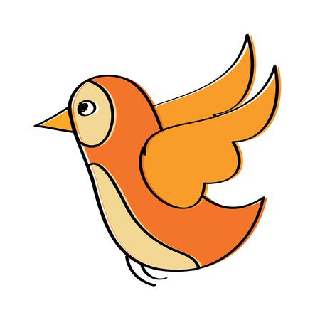 飛ぶ鳥の野生動物の自然な動物ベクトル図