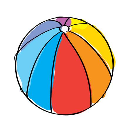 beach ball rubber toy play image vector illustration